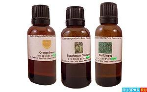 Различные аромамасла для бани.